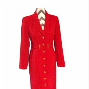 Calvin Klein Stunning Red Trench Coat Size…